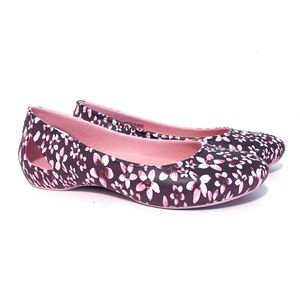 Crocs Laura Graphic Flat Pink Tropical Lightweight